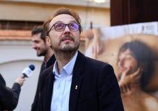` Ana, ` d'intrigue amoureuse de lundi - première de film à Bucarest Images libres de droits