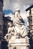 ana de площадь santa Статуя Ла Barca Педра Calderon de писателя Стоковые Изображения RF