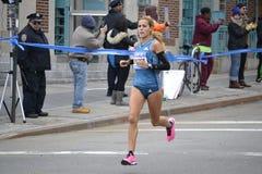 Ana Dulka Felix elita biegacza NYC maraton Zdjęcia Stock