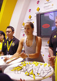 Ana Ivanovic autograph signing Royalty Free Stock Photo