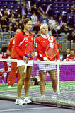 Ana Ivanovic en Svetlana Kuznetsova Royalty-vrije Stock Foto