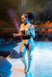 Ana Malhoa Singing in Praia, Kaapverdië royalty-vrije stock afbeeldingen