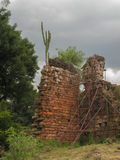 ana mission ruins santa Arkivbild