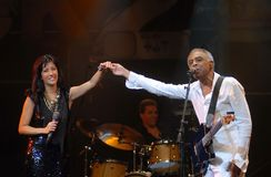 Ana Moura e Gilberto Gil Photo libre de droits
