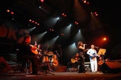 Ana Moura e Gilberto Gil Photographie stock libre de droits