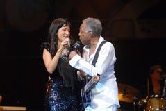 Ana Moura e Gilberto Gil Photos libres de droits
