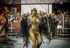 Ana Paula Minerato - musa del carnaval del baile Imágenes de archivo libres de regalías