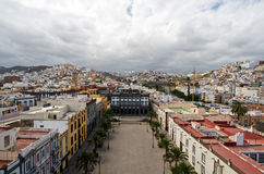 ana santa plaza του Λας Πάλμας Στοκ εικόνες με δικαίωμα ελεύθερης χρήσης