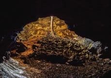 Ana Te Pahu Cave on Easter Island, Chile. Ana Te Pahu Cave, Rapa Nui National Park, Easter Island, Chile Stock Image