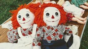Ana y Andy Dolls Raggedy gemelos fotos de archivo libres de regalías