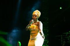 Anabela Aya, Angola Kriol Jazz Festival lizenzfreie stockfotos