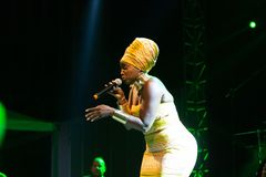Anabela Aya, Angola Kriol Jazz Festival stockfotos