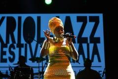 Anabela Aya, Angola Kriol Jazz Festival lizenzfreies stockbild