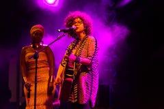 Anabela Aya und Roberta Campos Kriol Jazz Festival lizenzfreies stockfoto