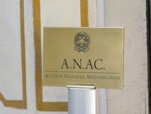 ANAC, autorité nationale italienne d'Anti-corruption images stock