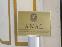 ANAC, italienische nationale Korruptionsbekämpfungs- Berechtigung stockbilder