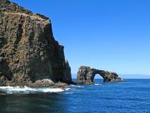 anacapa曲拱海岛 库存照片