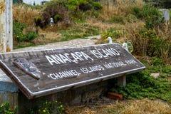 Anacapa海岛国家公园 免版税图库摄影
