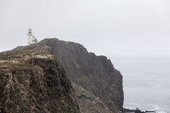 Anacapa-Insel-Leuchtturm-Nebel lizenzfreies stockbild