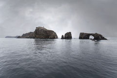 Anacapa Island California with Storm Sky. Anacapa island with storm sky in Channel Islands National Park in Southern California Stock Photography