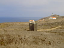 Anacapa Outhouses. I saw beauty combined with humor in these primitive facilities on Anacapa Island Stock Image
