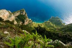 AnaCapri abstract. Abtract aerial shot of AnaCapri coast Royalty Free Stock Photography