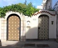 Anacapri Doors. Twin entryways in Anacapri, on the island of Capri, Italy Stock Images