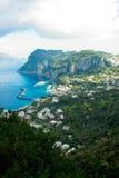 AnaCapri landscape. Landscape shot of Capri with city in background Royalty Free Stock Photos