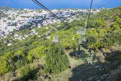 Anacapri Seen from the Chair Lift Up Mount Solaro  2. Anacapri Seen from the Chair Lift Up Mount Solaro in Italy  2 Stock Image