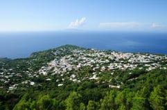 Anacapri Town - Italy. The Anacapri town in the island of Capri, Itay Stock Photo