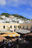 Anacapri Town Square. Main square in Anacapri on the island of Capri, Italy Royalty Free Stock Images