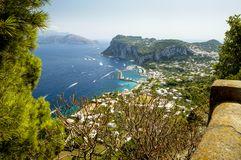 Anacapri town viewpoint - Capri island, Italy Stock Photos