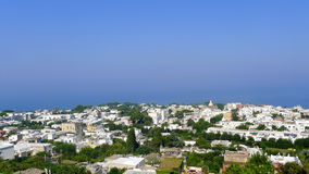 Anacapri view from the chairlift, Capri, Italy Stock Photography