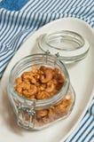 Anacardi aromatizzati di recente arrostiti della noce di cocco Immagine Stock