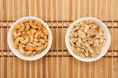 Anacardi ed arachidi Immagini Stock
