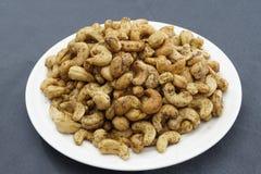 Anacardii fritti del pepe Immagini Stock