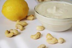 Anacardio e limone Mayo Fotografie Stock Libere da Diritti