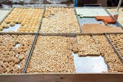 Anacardos y placeres turcos fotografía de archivo