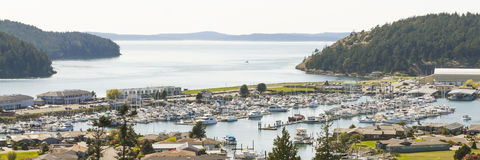 Anacortes Marina Puget Sound en San Juan Islands Stock Fotografie