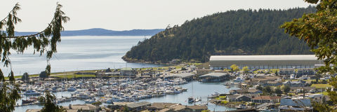 Anacortes Marina Puget Sound und San Juan Islands Stockfotografie