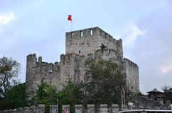 Anadolu Hisar close-up photography. This fortress to protect against attacks that could come from the Bosphorus was built by Ottoman Royalty Free Stock Image