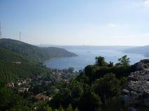 Anadolu kavagi landscape. Yoroz castle view Stock Photos