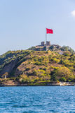 Anadolu Kavagi with Yoros Castle Royalty Free Stock Photos