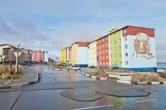 Anadyr。 城镇视图。 图库摄影