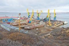 Anadyr dock Stock Photo