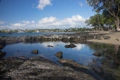 Anaehoomalu海滩Waikoloa夏威夷 图库摄影