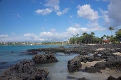 Anaehoomalu海滩Waikoloa夏威夷 免版税库存图片