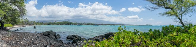 Anaehoomalu Beach Waikoloa Hawaii Stock Photo