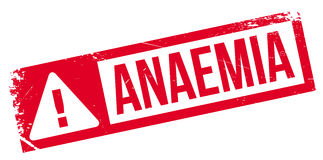 Anaemia rubber stamp Stock Image