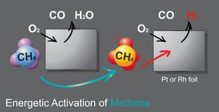 Anaerobic oxidation of methane is a microbial process occurring. In anoxic marine and freshwater sediments. During AOM methane is oxidized with different Royalty Free Stock Photography